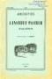ARCHIVES DE L'INSTITUT PASTEUR D'ALGERIE 1953