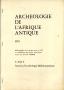 ARCHÉOLOGIE DE L'AFRIQUE ANTIQUE 1975