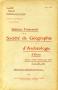 BULLETIN Trimestriel de la Societe de Geographie et Archeologie