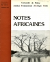 Notes africaines N°153 Janvier 1977