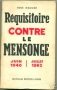 REQUISITOIRE CONTRE LE MENSONGE