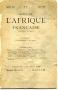 REVUE DE L'AFRIQUE FRANCAISE N° 21,    Janvier 1887