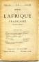 REVUE DE L'AFRIQUE FRANCAISE N° 22 Février 1887