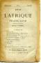 REVUE DE L'AFRIQUE FRANCAISE N°25 mai 1887