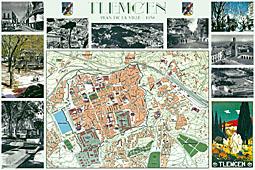 Plan des rues de tlemcen 1 editions gandini for Plan tlemcen